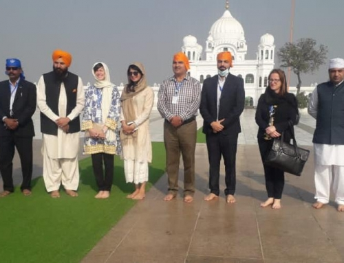 Diplomatic staff from UK HC in Islamabad arrived/visited Kartarpur Corridor today.